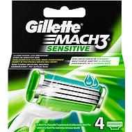 GILLETTE Mach3 Sensitive 4 ks - Pánske náhradné hlavice