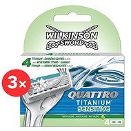 WILKINSON Quattro Titanium Sensitive 3× 4 ks
