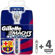 GILLETTE Mach3 Turbo + hlavice 4 ks - Holiaci strojček