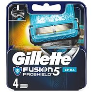 GILLETTE Fusion Proshield Chill 4 ks - Pánske náhradné hlavice