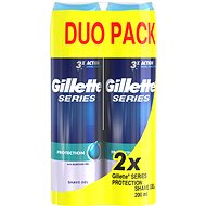GILLETTE Series Gel Extra Protection 2× 200 ml - Gél na holenie