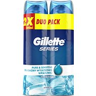 Gél na holenie GILLETTE Series Gel Ultra Sensitive 2× 200 ml - Gel na holení