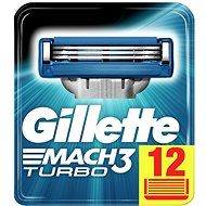 Pánske náhradné hlavice GILLETTE Mach3 Turbo 12 ks - Pánské náhradní hlavice