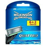 WILKINSON Quattro 6 + 2 ks - Pánske náhradné hlavice
