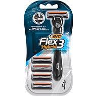 BIC Flex3 Hybrid + hlavica 4 ks - Holiaci strojček