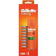 Pánske náhradné hlavice GILLETTE Fusion Manual 8 ks + Gél - Pánské náhradní hlavice