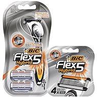 BIC Flex5 Hybrid + hlavica 6 ks - Holiaci strojček