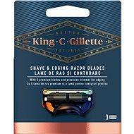 KING C. GILLETTE Shave&Edging 3 ks - Pánske náhradné hlavice