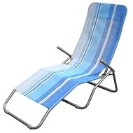 Happy Green Plážové ležadlo modrý pruh - Plážové ležadlo