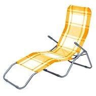 Happy Green Plážové ležadlo oranžová kocka - Plážové ležadlo