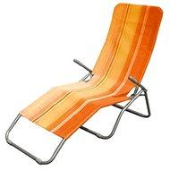 Happy Green Plážové lehátko oranžový pruh - Plážové ležadlo