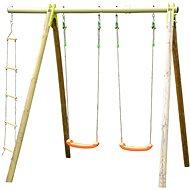 Hojdačka 2 sedátka + povrazový rebrík - Detské ihrisko