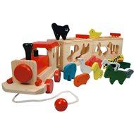 Didaktická hračka Bino Vlak so zvieratkami – Zoo Trenino - Didaktická hračka