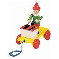 Bino Ťahací Pinocchio s xylofónom - Ťahacia hračka