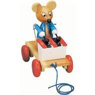 Bino Ťahacie myš s xylofónom - Ťahacia hračka