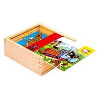 Bino drevené kocky - Prvá skladačka s Krtkom - Obrázkové kocky