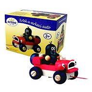 Detoa Krteček a žmurkajúce auto - Ťahacia hračka