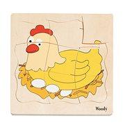 Woody Puzzle na doske – Vývoj sliepky - Puzzle