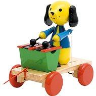Woody Ťahací pes s xylofónom - Ťahacia hračka