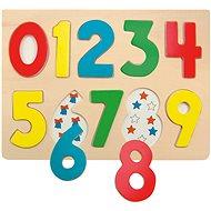 Woody Puzzle na doske - Číslice s lienkami - Puzzle