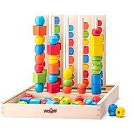 Didaktická hračka Woody Nasúvacie koráliky, Logik