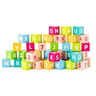 Woody Kocky s písmenami a číslami - Herný set