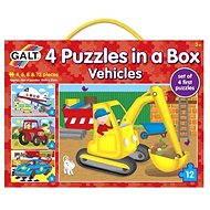 GALT 4 Puzzle v krabici – dopravné prostriedky - Puzzle
