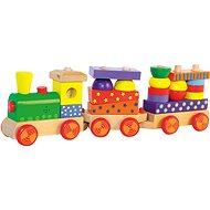 Woody Skladací vlak so svetlom - Vláčik