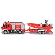 Siku Blister – Požiarne vozidlo Unimog s člnom - Kovový model
