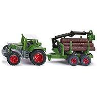 Siku Blister – Traktor s prívesom na guľatinu - Kovový model