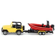 Siku Blister – Jeep s člnom - Kovový model