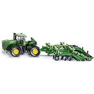 Siku Farmer – Traktor John Deere 9630 s bránami Amazone Centaur - Kovový model