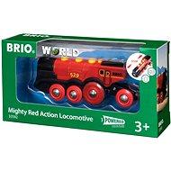 Brio World 33592 Mohutná červená akčná lokomotíva - Vláčik