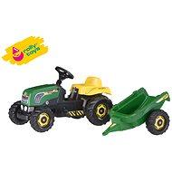 Šliapací traktor Rolly Kid s vlečkou - zelený - Šliapací traktor