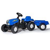 Rolly Toys Šliapací traktor Rolly Kid s vlečkou modrý - Šliapací traktor