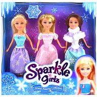 Princezná Sparkle Girlz zimná súprava 3 ks - Bábika