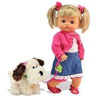 Bábika Bambolina Nena so psíkom - Bábika