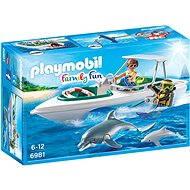 Playmobil 6981 Športový čln s potápačmi - Stavebnica