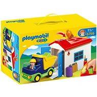 Playmobil 6759 Nákladné auto s garážou (1.2.3) - Stavebnica