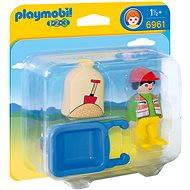 Playmobil 6961 Stavebný robotník s kolesom (1.2.3) - Hračka pre najmenších