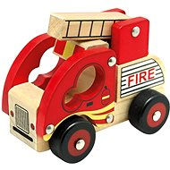 Bino Drevené auto hasiči - Auto