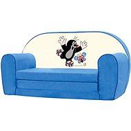 Bino Mini-pohovka modrá – Krtko - Detský nábytok