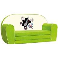 Bino Mini-pohovka zelená – Krtko - Detský nábytok