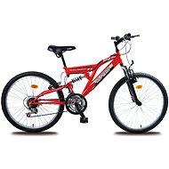 "Olpran Magic červeno/čierny - Detský bicykel 24"""