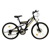 "Olpran MTB Magic disc čierno/žltý - Detský bicykel 24"""