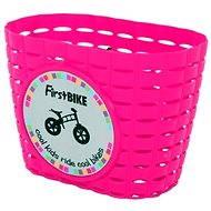 FirstBike košík ružový - Košík na bicykel