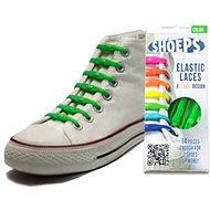 Shoeps - Silikónové šnúrky zelené - Súprava šnúrok