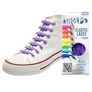Shoeps - Silikónové fialové šnúrky - Súprava šnúrok