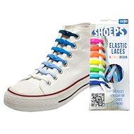 Shoeps - Silikónové šnúrky mix modré - Súprava šnúrok