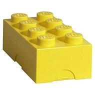 LEGO Box na desiatu 100 x 200 x 75 mm - žltý - Desiatový box